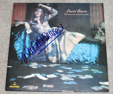 WOODY WOODMANSEY SIGNED DAVID BOWIE 'THE MAN WHO SOLD THE WORLD' RECORD LP w/COA