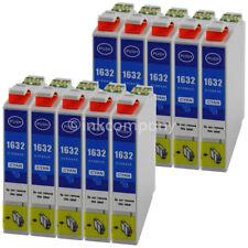 10 Cartouche D'Encre Compatible avec Epson T1632 XL Bleu Cyan avec Puce