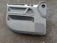 VW TOUAREG 2.5 TDI 2002-07 - PASSENGER N/S FRONT LEFT BLACK LEATHER DOOR CARD