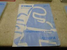 Yamaha 250 YZ YZ250-FA Used Manual 2011 #SR-329