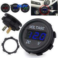 12 24V Voltage Meter Car Marine Motorcycle LED Digital Voltmeter Battery BBC