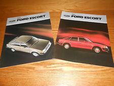 1982 FORD ESCORT 24 p. SALES CATALOG and 24 p. 82 DEALER BROCHURE, 2 for 1 Deal