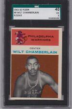 1961 Fleer # 8 Wlit Chamberlian Rookie  SGC 40