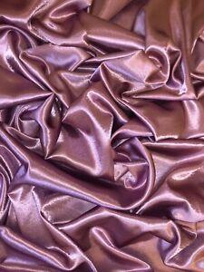 "1 MTR Dusty PinkShiny Crepe Back Satin Fabric 58"" Wide Bridal Dress Evening Prom"