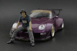 Akira Nakai-San sitting Figure for 1:18 GT-Spirit Porsche RWB 964 993 ! NO CAR !
