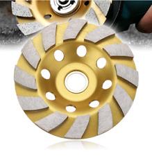 "2PC 4"" Gold Diamond Grinding Wheel Disc Segment Bowl Cup Concrete Grinder Disc"