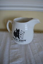 VINTAGE BLACK & WHITE SCOTCH WHISKY JUG SCOTTIE DOG ARKLOW REP OF IRELAND #ww