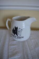 VINTAGE BLACK & WHITE SCOTCH WHISKY JUG SCOTTIE DOG ARKLOW REP OF IRELAND #ww