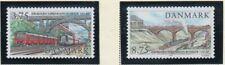Denmark Sc 1075-76 1997 150th Anniv Copenhagen Roskilde RR stamp set mint NH