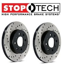BMW E90 E92 335i Set of Rear Left and Right Drilled Brake Disc Rotors StopTech