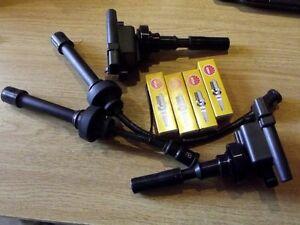 Ignition Coil pack HT leads & spark plugs set, Mitsubishi Pajero Jr, Junior 1.1