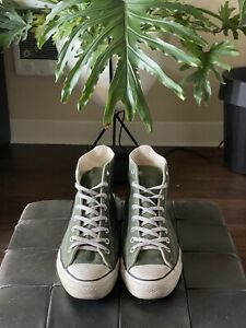 Vintage Converse Made in USA Size 9.5 GREEN