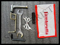 Lambretta Tool Kit With Red and White Pouch Includes Engine Stand New