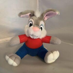 "Vintage Brer Bunny Plush Disneyland Disney Rabbit 7"" Red Shirt & Blue Pants"