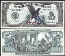 Eagle w/ Stars Stripes Billion Dollar Bill Collectable Funny Money Novelty Note