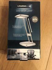 Modern Adjustable Silver & Chrome LED Reading Desk Lamp Table Craft Light