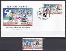 Nouvelle Caledonie 2019 Sport Athletism Handisport FDC + timbre MNH Luxe