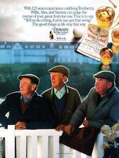 Dewars Scotch whiskey print ad 1988 Caddies