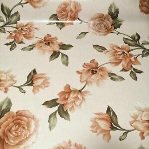 Rosen im Herbst - Mitteldecke mit rosa und beigen Rosen für den Outdoorbereich