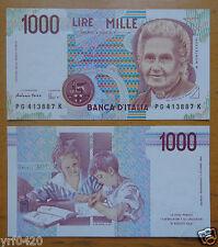 Italy Paper Money 1000 Lire 1990 UNC