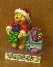 "Jim Shore Disney #4016566 POOH ""Presents from Pooh"" NIB Christmas, 5.5"""