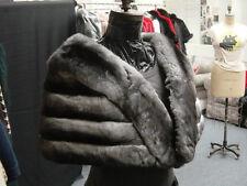 EMPRESS CHINCHILLA CLASSIC CAPE SHAWL SHRUG WRAP CAPELET COLLAR STOLE COAT