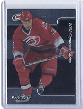 2001-02 BE A PLAYER SIGNATURE SERIES ERIK COLE RC BAP ROOKIE #229 HURRICANES