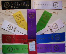 25-LOT 1st, 2nd, 3rd, 4th, Place Award Ribbons with Cards & String Your choice