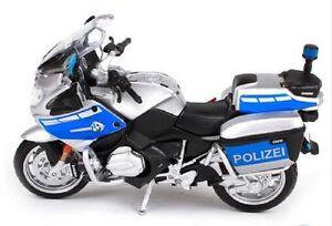 MAISTO 1:18 BMW R1200RT Germany R 1200 RT Police MOTORCYCLE BIKE DIECAST MODEL