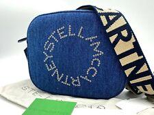 AUTH NWT $770 Stella McCartney Falabella Mini Denim Logo Camera Bag In Navy