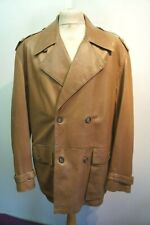VINTAGE 70's DUNHILL DOUBLE BREASTED HALF BELT LEATHER COAT JACKET SIZE XL