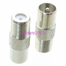 1pce Adapter Connector F TV female jack to IEC PAL DVB-T male for Radio Antenna