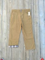 New Schmidt Flannel Lined Work Pants 38x30 Relaxed Fit