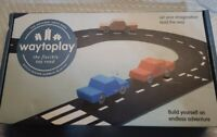 Way To Play Toys Flexible Race Track Toy Road Set Highway 16 Pieces