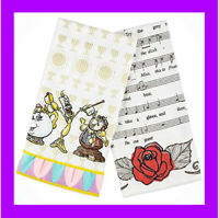 Disney Parks Be our Guest Kitchen Towel Set of 2 - Beauty and the Beast - NEW