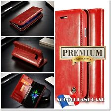 Etui Coque housse Cuir RED Oil Wax Leather Case Cover pour gamme iphone (All)