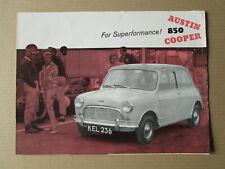 Austin Mini 850 Cooper Brochure.BMC Mini brochure.car brochure.