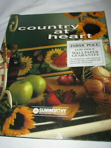 """Vintage Wallpaper Book Country At Heart 13-1/2"""" by 16-1/2"""""""