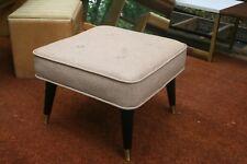 Mid Century Modern Pink square foot stool ottoman bench McCobb Eames era retro