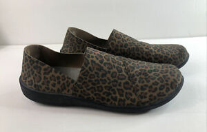 CLARKS CLOUDSTEPPERS COMFORT SHOES LEOPARD PRINT Womens Size 11 ANIMAL