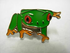 Amazon Tree Frog. Frog with red eyes novelty pin badge.