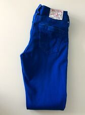 "True Religion Halle Ladies Skinny Jeans, W25"" L30"" Royal Blue, Vgc"