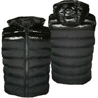 Mens Gilets Shiny Pannel Bodywarmer Puffer Quilted Padded Bomber Jackets GIFT x
