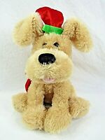 Christmas Dog Plush Toy Animated Singing Make Me Wanna Shout Moving Vintage