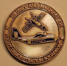 Blue Angels Flight Demonstration Sq Commander Navy Challenge Coin