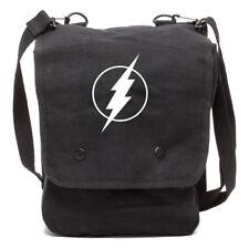 Flash Comic Superhero Canvas Crossbody Travel Map Bag Case