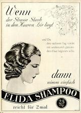 Wenn der Strasse Staub in den Haaren Dir liegt ELDIA SHAMPOO XL-Annonce von 1931