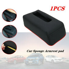 Car Center Armrest Mat Cover w/ Pocket Heightening Pad Console Pad Soft Leather