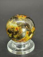 "German Glazed Bennington Marble Fancy Bennington Marble Clay Marble 0.748"""