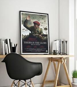 THEIRS IS THE GLORY - MEN OF ARNHEM Film Poster - Parachute Regiment War Prints